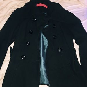BACK LONG PEACOAT SIZE SMALL